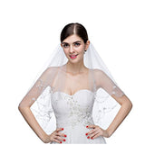 Pearls Crystals Wedding Bridal Veil with Comb