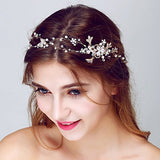 Rhinestone Beaded Bridal Head Band bridal hair accessories