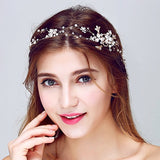 Rhinestone Beaded Bridal Head Band wedding hair pieces