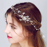 Rhinestone Beaded Bridal Head Band wedding hair accessories