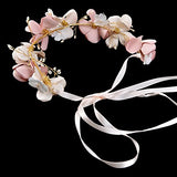 Romantic Silk Flowers Pearl Beaded wedding hair accessories