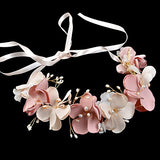 Romantic Silk Flowers Pearl Beaded bridal headpieces
