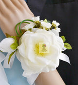 Rose Corsage Hand Wrist Flower for Wedding,Pprom,Party 2 Pack