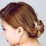 Silver Leaf Pearl Bridal Hair Pins wedding hair accessories