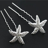 Silver Starfish Hair Pins Wedding Prom Accessories