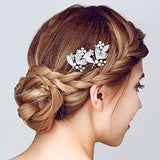 Silver-tone Rhinestone Bridal Hair Pins wedding hair pins