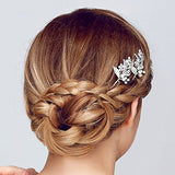 Silver-tone Rhinestone Bridal Hair Pins pearl hair pins