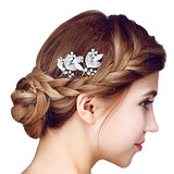 Silver-tone Rhinestone Bridal Hair Pins bridal headpieces