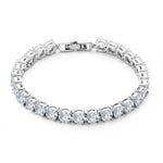 Tennis Bracelet Women White Gold Plated Cubic Zirconia Classic Wedding Bracelet