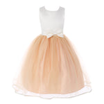 Tulle Flower Girl Dress with Satin Sash and Bow