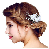 Tulle Flower Beading Hair Comb bridal hair combs
