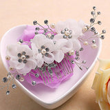 Tulle Flower Beading Bridal Hair Comb wedding hair combs
