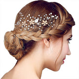 Vintage Gold Twig Crystal Pearl Side Combs bridal headpieces