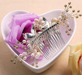 Hair Comb Crystal Pearl Flower Slides vintage wedding hair accessories