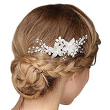 Vintage Hair Comb Crystal Pearl Flower Slides hair comb clips