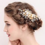 Vintage Simulated Pearls Gold Hair Clips hair fascinators for weddings