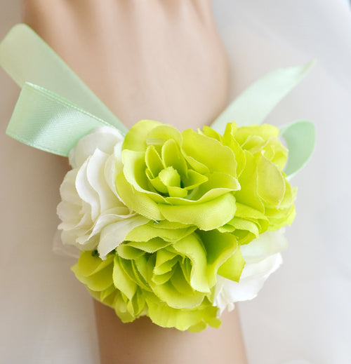 Wedding Corsages Wrist Flower Wedding Bridal Bridesmaid 4 Pack
