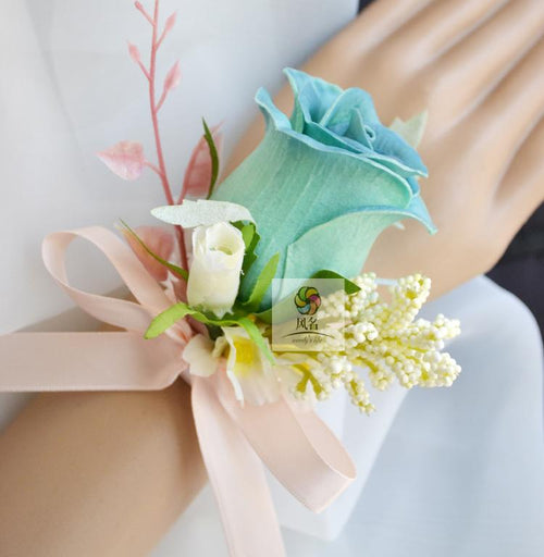Wedding Corsages for Women Hand Wrist Flower 2 Pack