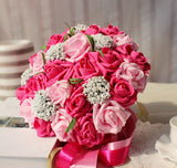 Wedding Holding Bouquet with Artificial Roses