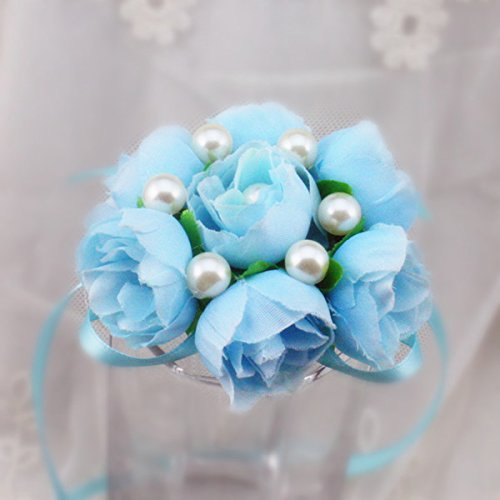 Wedding Wrist Corsage Party Prom Hand Flower Decor