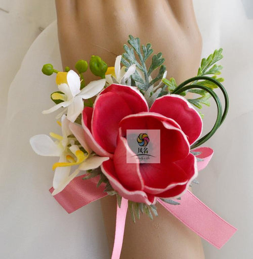 Wedding Wrist Corsage for Prom Anemone 2 Pack