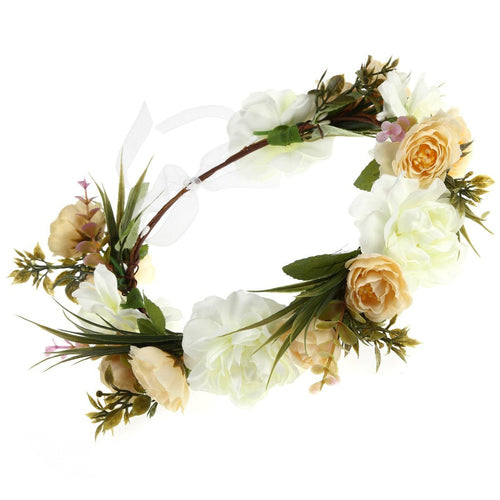 Women Flower Wreath Crown Floral Wedding Garland Headband