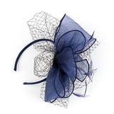 Derby Fascinator Pillbox Bridal Hair Band Party Mesh Net Feather Headwear