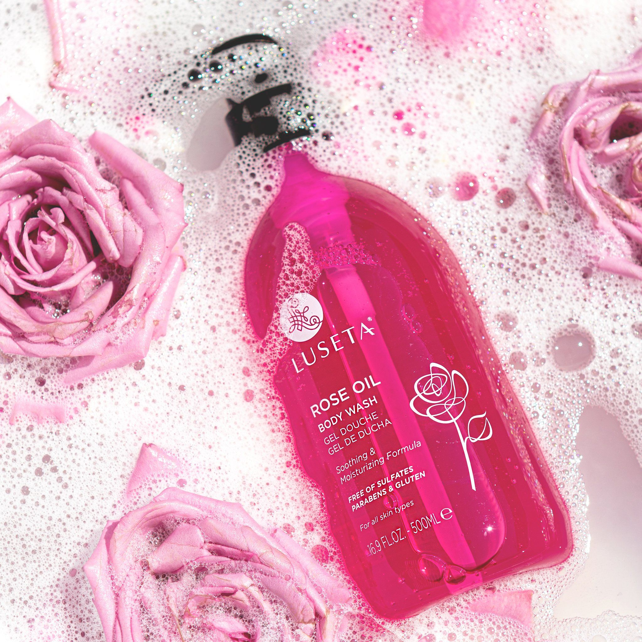 Rose Oil Body Wash - Luseta Beauty