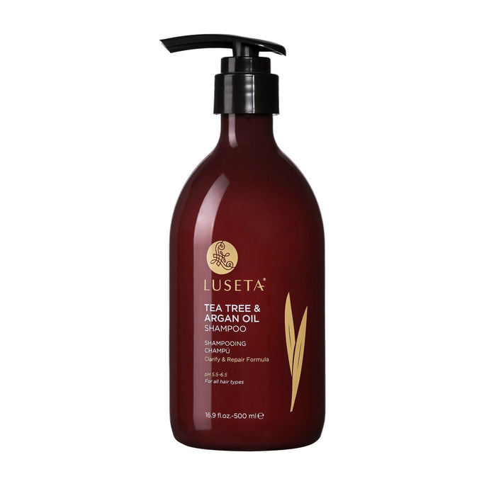 Tea Tree & Argan Oil Shampoo RED Collection - Luseta Beauty
