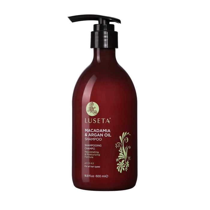 Macadamia & Argan Oil Shampoo RED Collection - Luseta Beauty