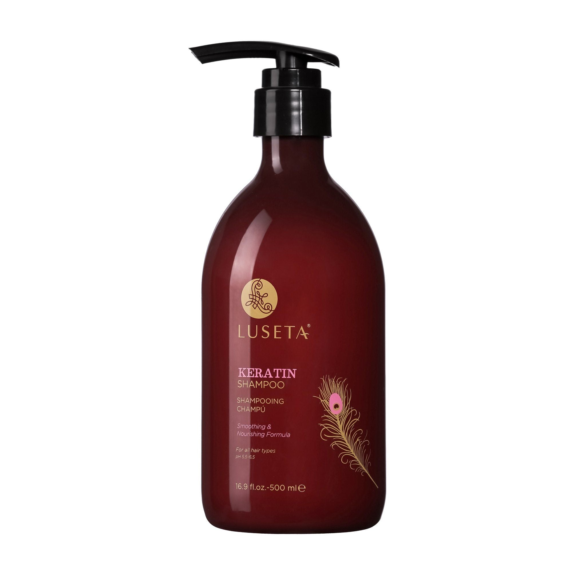 --Keratin Smooth Shampoo RED Collection - Luseta Beauty--