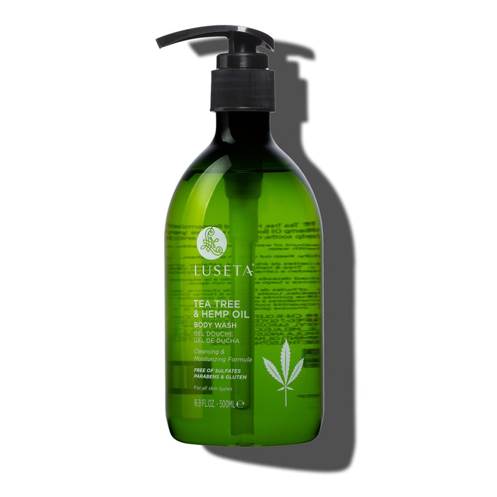 Tea Tree & Hemp Oil Body Wash - Luseta Beauty
