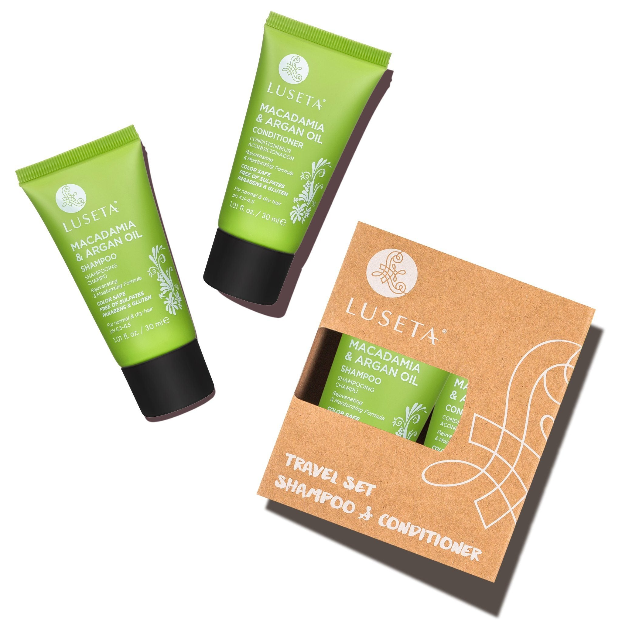 --Macadamia & Argan Oil Travel Set Duo - Luseta Beauty--