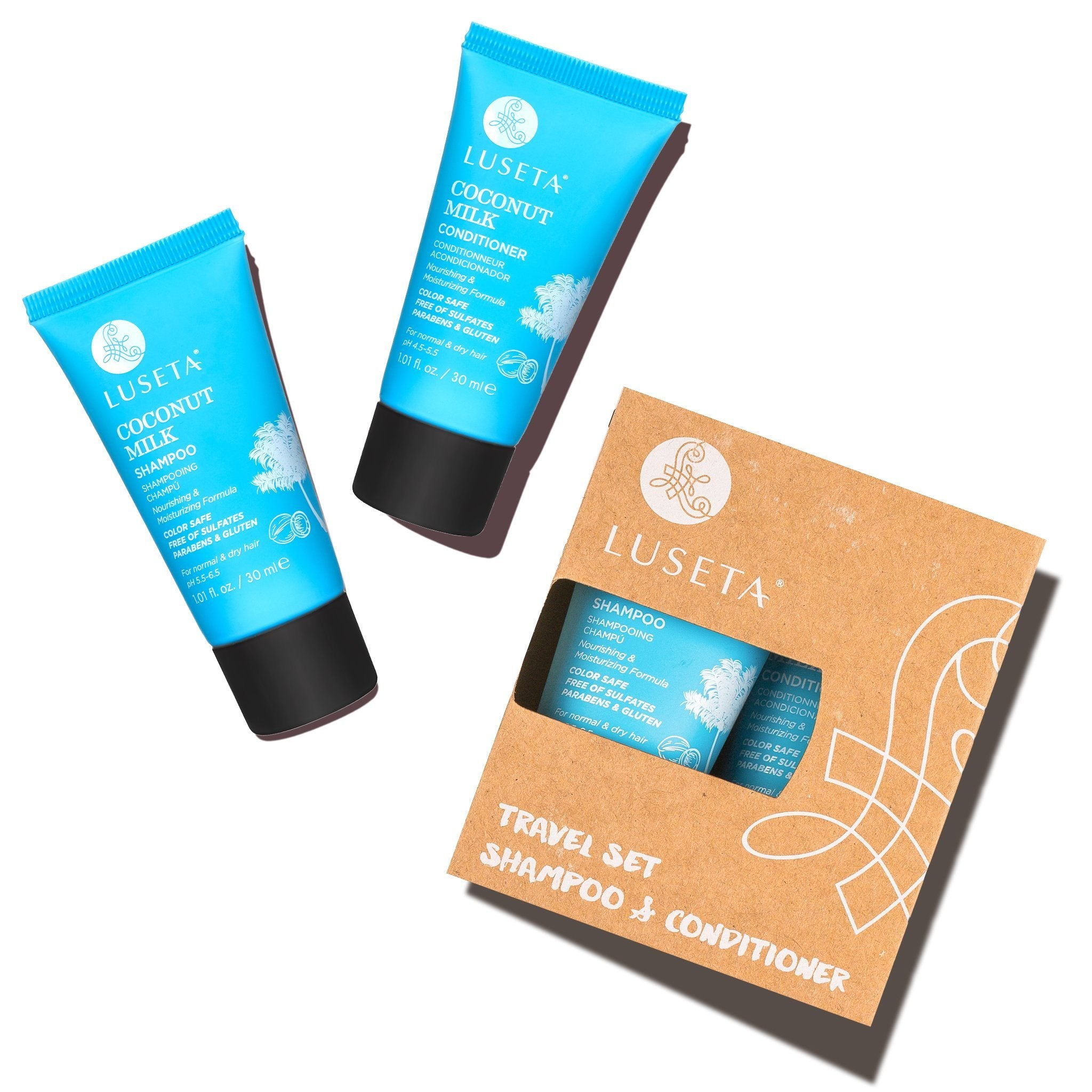--Coconut Milk Travel Set Duo - Luseta Beauty--