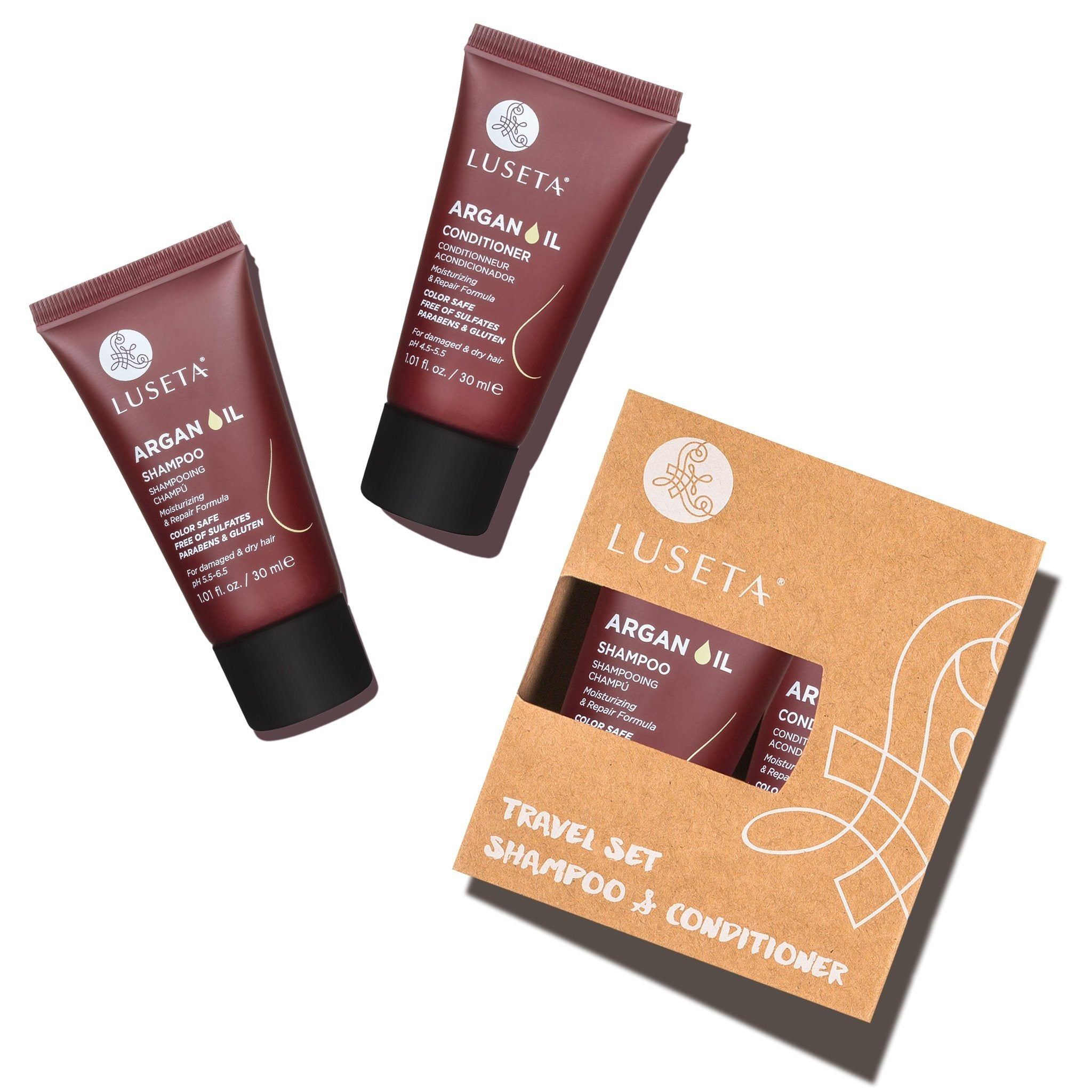 --Argan Oil Travel Set Duo - Luseta Beauty--