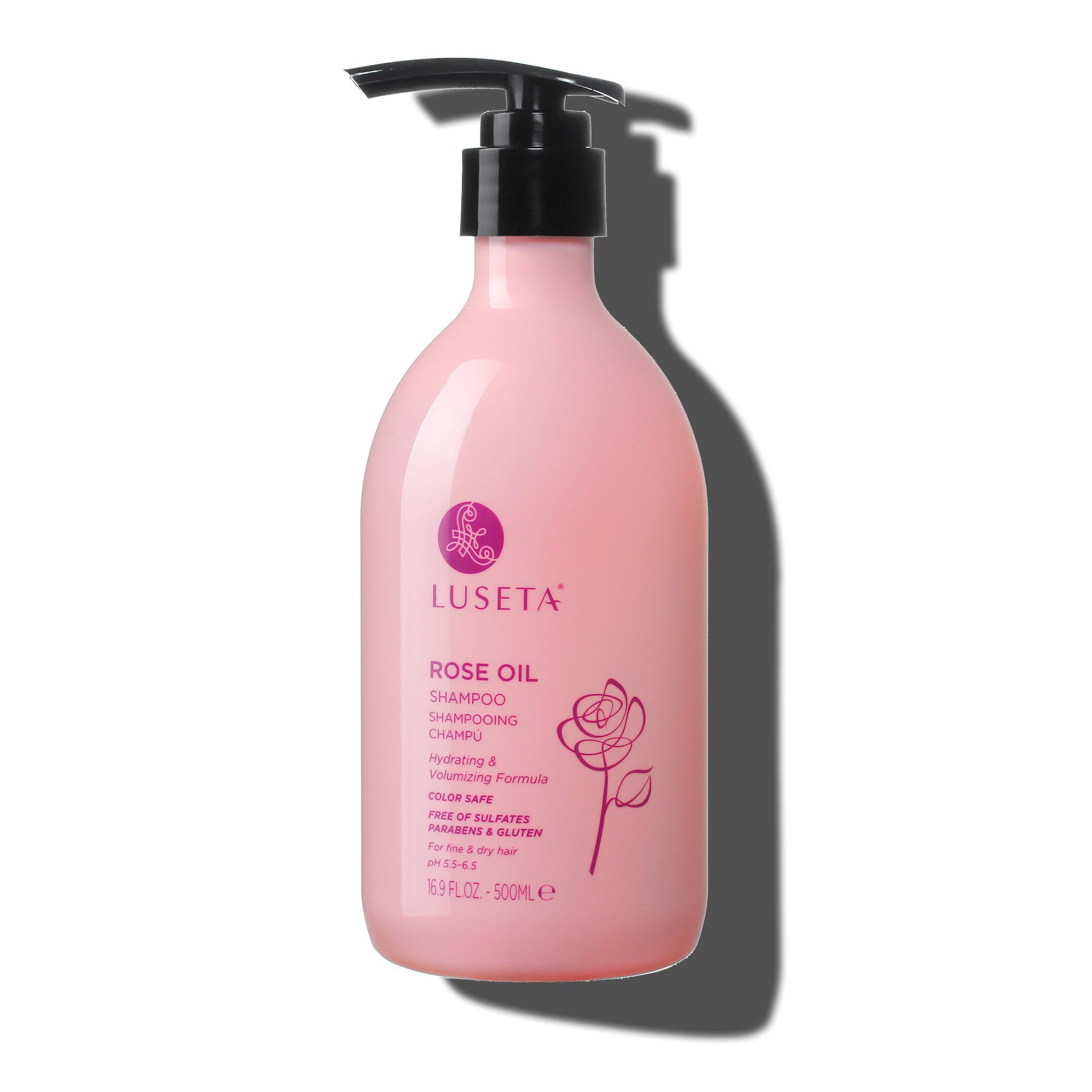 Rose Oil Shampoo - Luseta Beauty