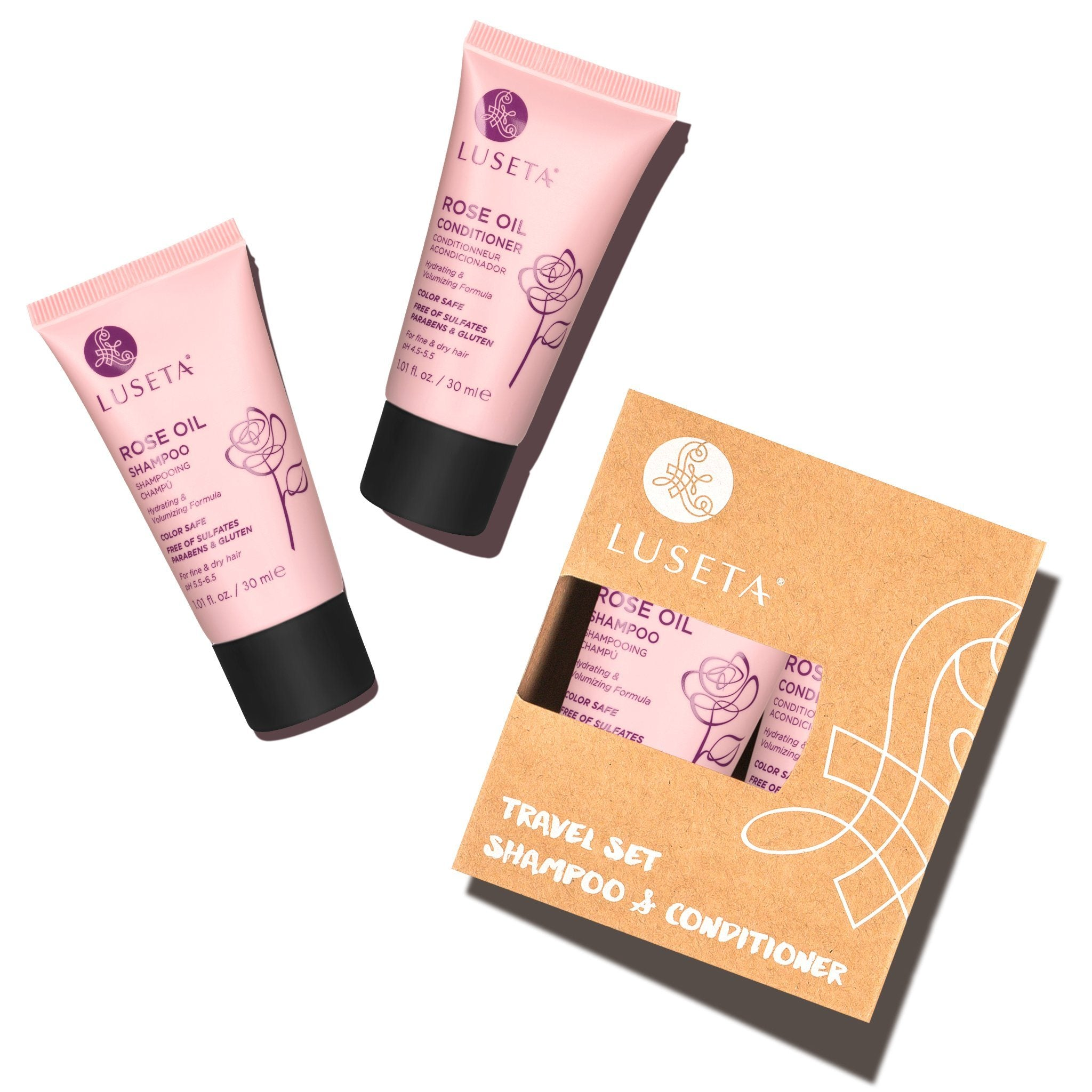 --Rose Oil Travel Set Duo - Luseta Beauty--