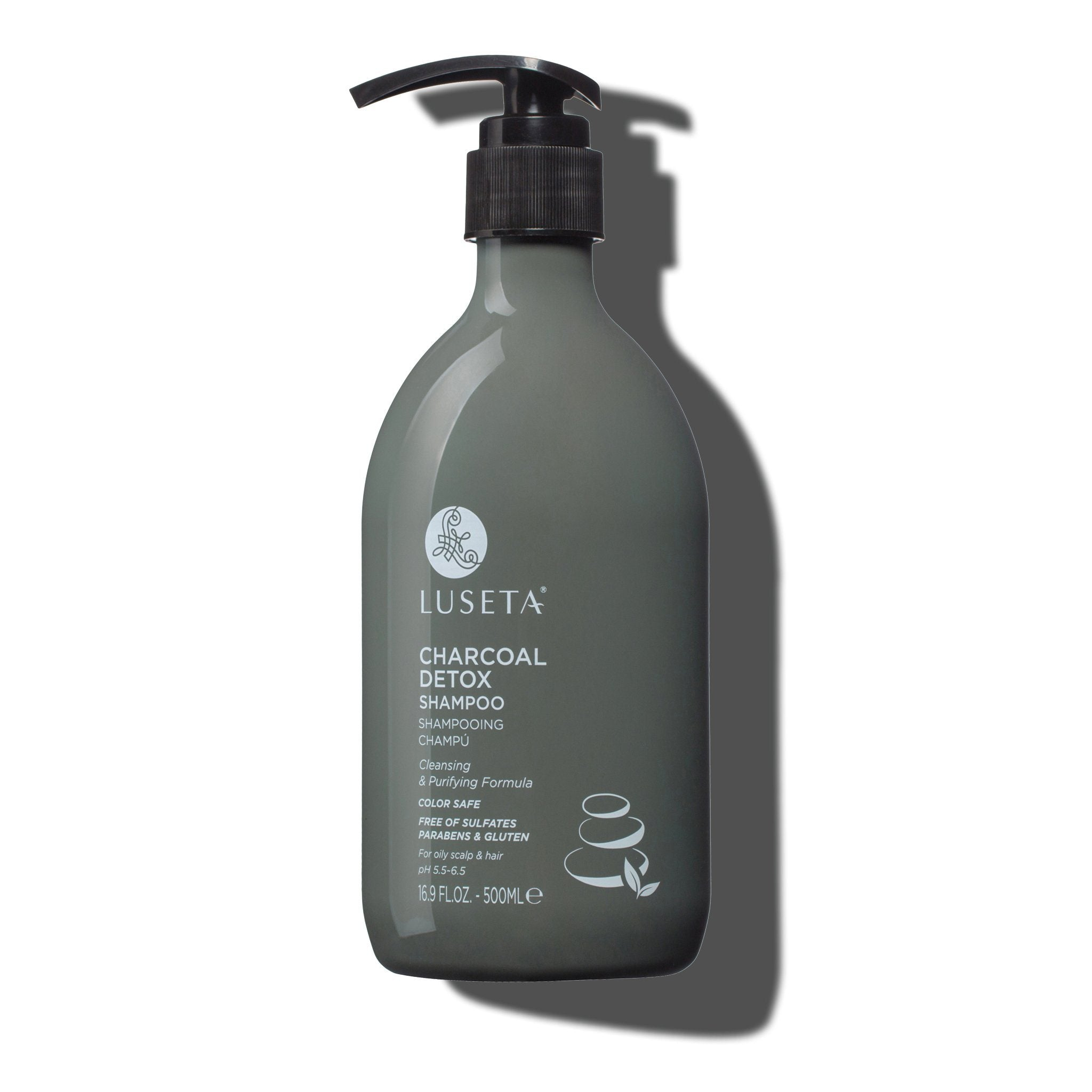 --Charcoal Detox Shampoo - Luseta Beauty--
