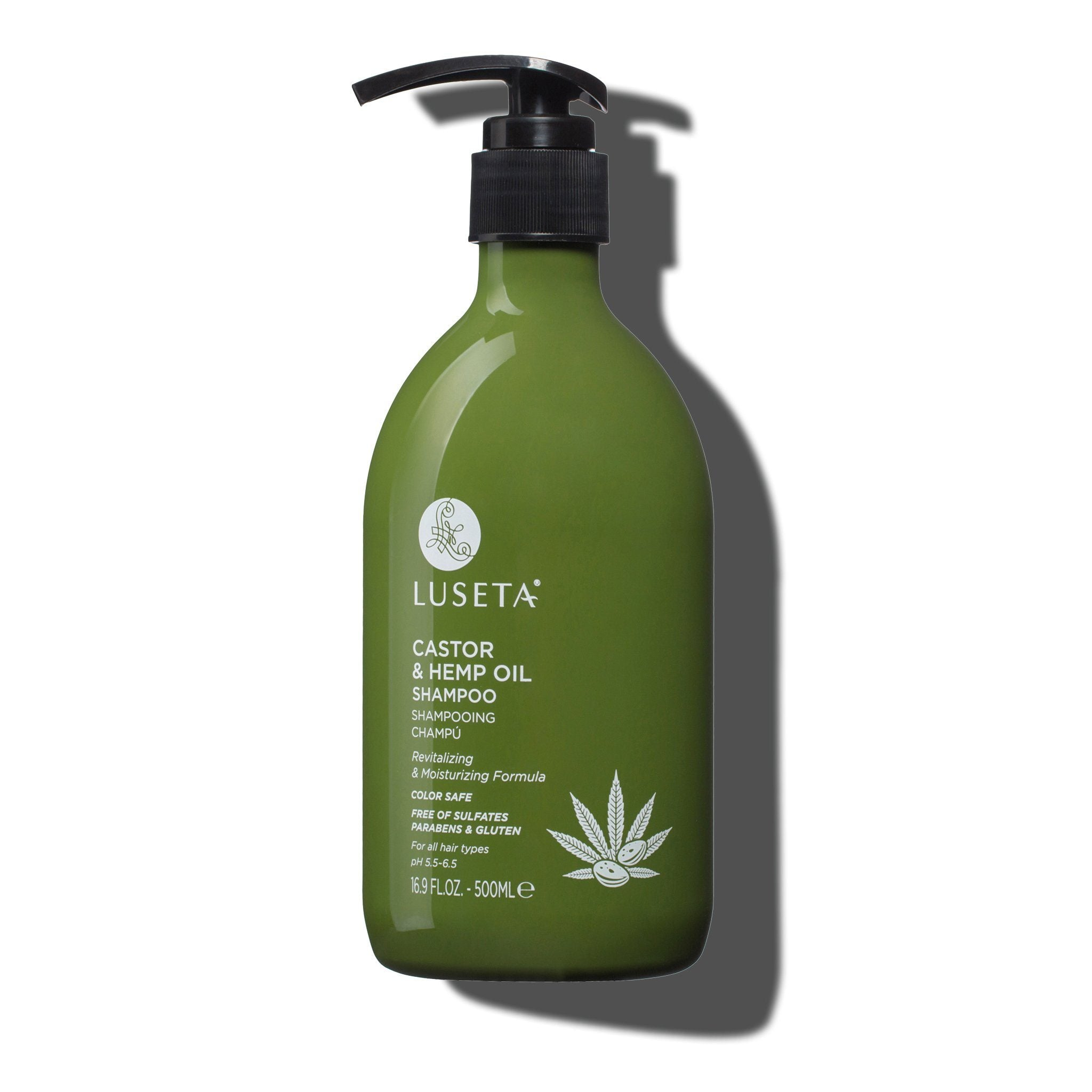 --Castor & Hemp Oil Shampoo - Luseta Beauty--