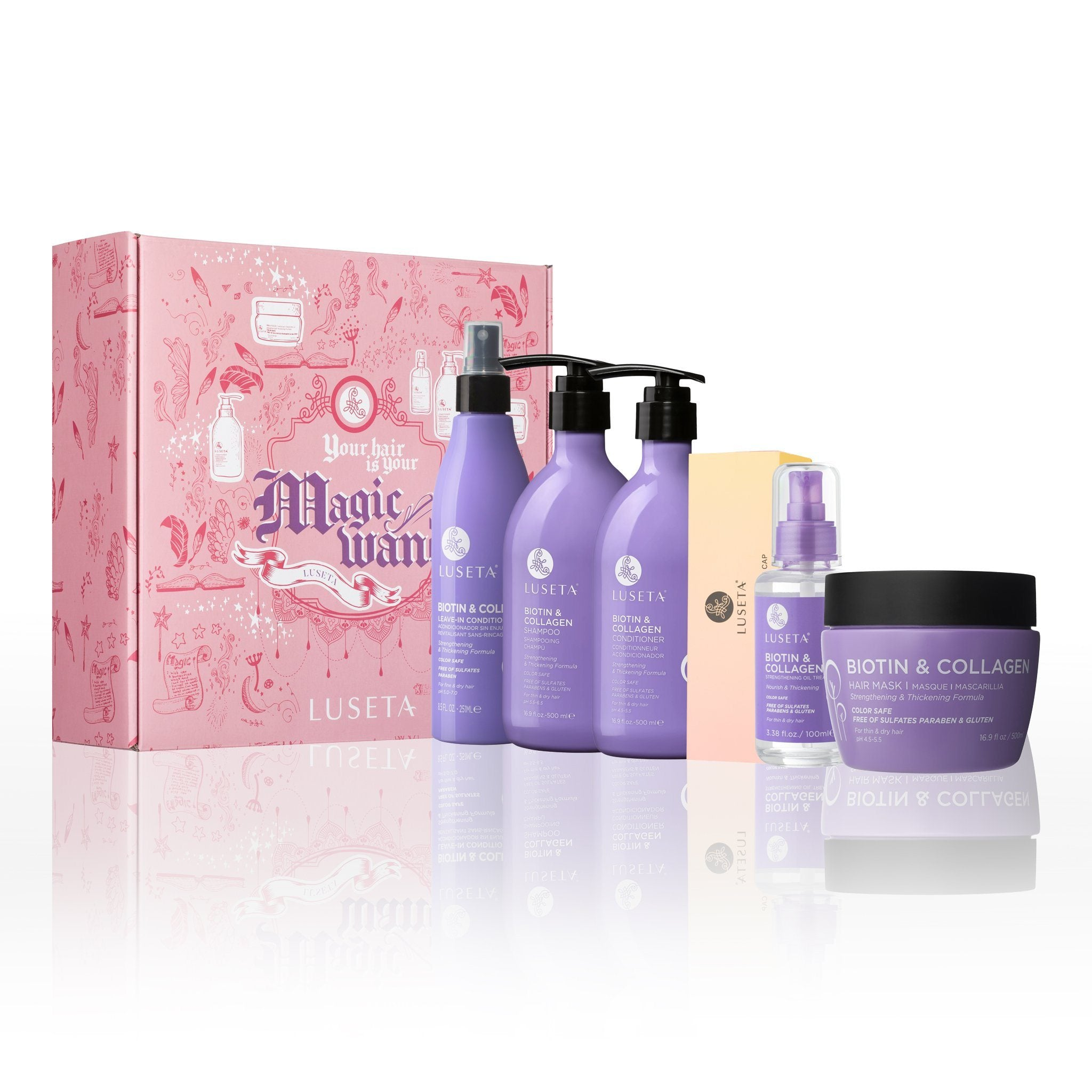 Magic Wand 6 Pcs Biotin Haircare Set