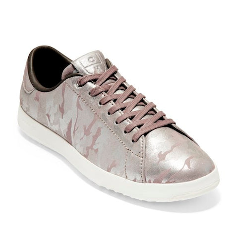 Cole Haan Women's Grandpro Tennis Shoe in Pink Metallic Camo E_W12945