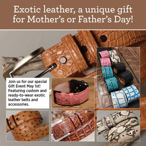 Exotic Leather Belts Men Women