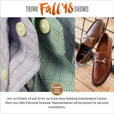 allen edmonds, custom shirts
