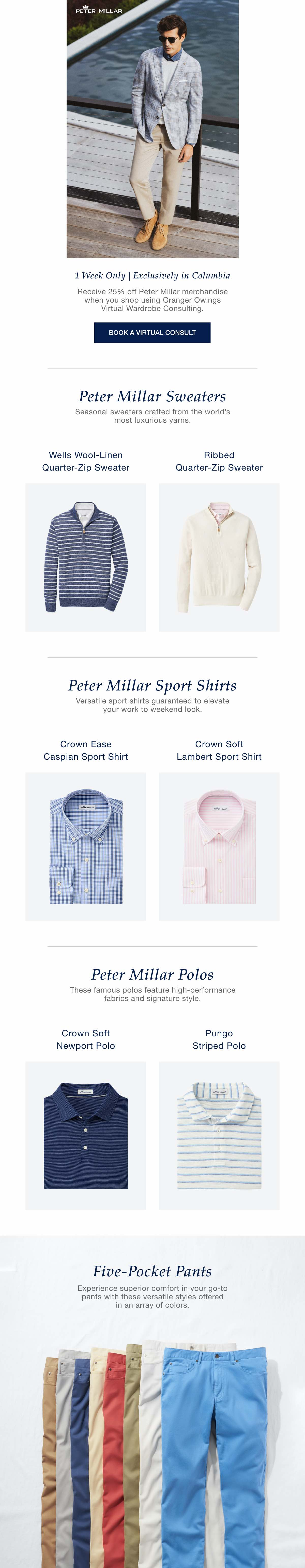 Peter Millar 25% Off Sale