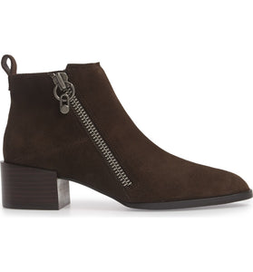 donald j pliner dante oily suede women's booties in brown cocoa