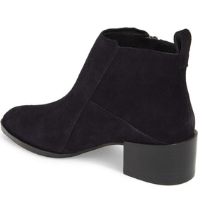 donald j pliner dante oily suede women's booties in navy blue