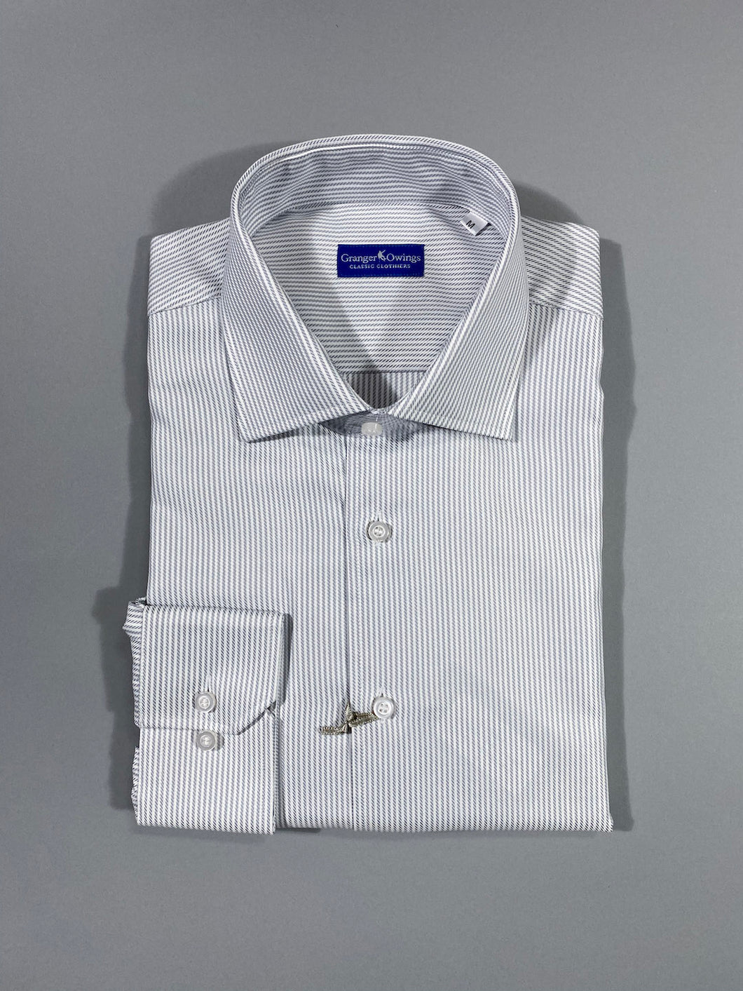 GREY STRIPE SPORT SHIRT