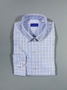 PINK AND BLUE PLAID SPORT SHIRT