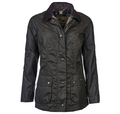 Barbour Women's Classic Beadnell Wax Jacket in Olive