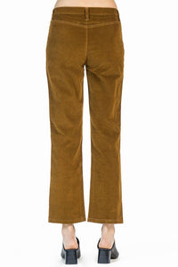leo and sage women's moleskin trouser in Saffron